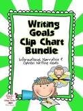 Writing Goals Clip Chart Bundle