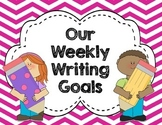 EDITABLE: Writing Goals Clip Chart CHEVRON