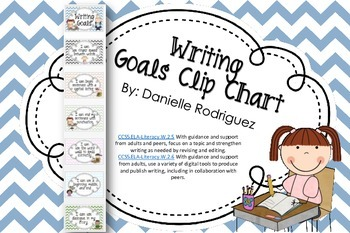 Writing Goals Clip Chart Deluxe