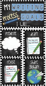 Writing Goals Clip Chart K-12