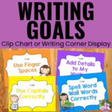 Writing Goals Clip Chart - Neon Theme