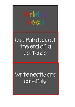 Writing Goals Clip Chart- goal setting, Daily 5, growth mindset, differentiation