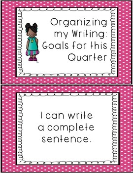 Writing Goals Clip Down Chart