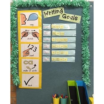 Writing Goals Display