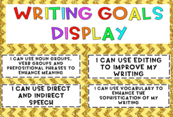 Writing Goals Display aligned with the Australian Curriculum {10 goals}