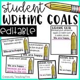 Writing Goals -EDITABLE