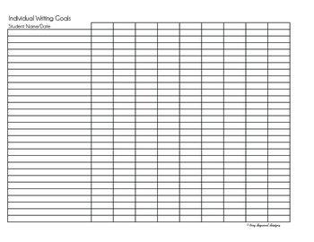 Writing Goals Graphic Organizer