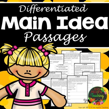 Main Idea Passages (Differentiated Main Idea Worksheets)