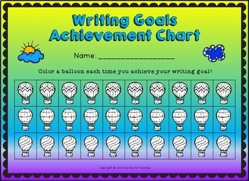 Editable Writing Goals Posters