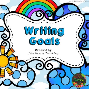 Writing Goals Posters