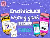 Writing Goals Individual Pencil