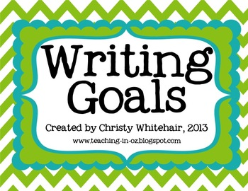 Writing Goals Interactive Chart for All 6+1 Traits