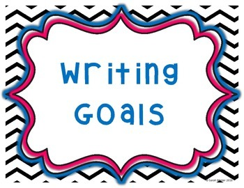 Writing Goals: Kindergarten - Chevron background