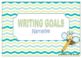 Writing Goals - Narrative