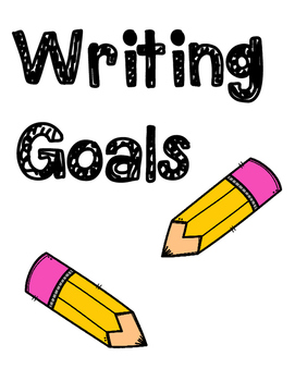 Writing Goals Poster