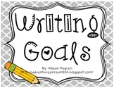 Writing Goals Posters - Simple Colors