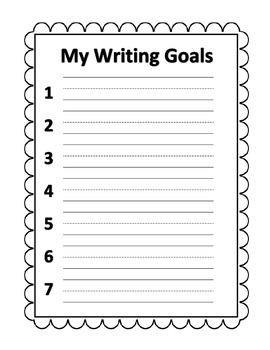 Writing Goals Primary