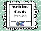 Writing Goals Sheet