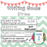 Writing Goals Strips