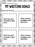 Writing Goals Template