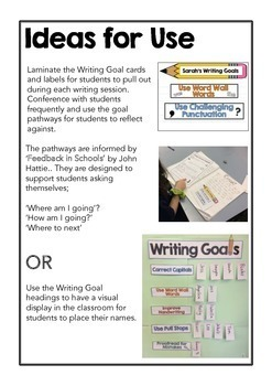 Writing Goals & Pathways - Feedback & Reflection System - Practice & Pedagogy