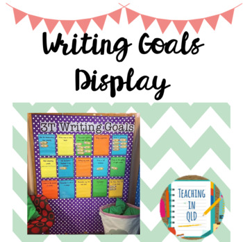 Writing Goals Editable #term2thankyou