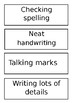 Writing Goals {for chart or bulletin board}