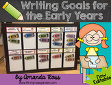 Writing Goals for the Early Years {Now Editable!}