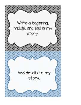 Writing Goals with a Blue and Grey Theme
