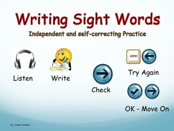 Writing Grade 1 Sight Words - Independent Powerpoint Practice