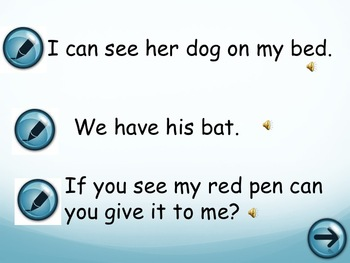 Writing Grade 1 Sight Words in Context - Powerpoint