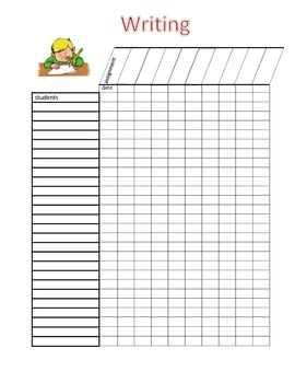 Writing Grade Sheet