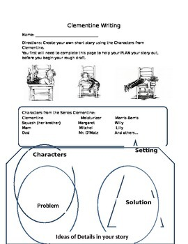 Writing Graphic Organizer: Clementine Series, grade 3