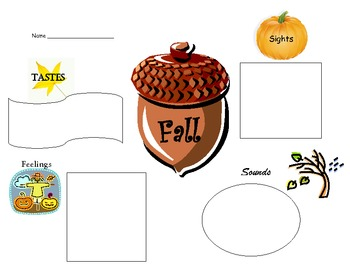 Writing Graphic Organizer---Fall Senses