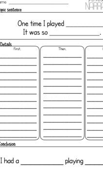 Writing Graphic Organizer Pack