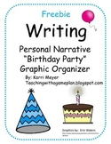 Writing Graphic Organizer Personal Narrative