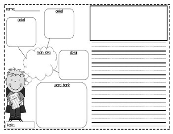 Writing Graphic Organizer and Rough Draft template