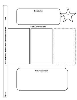 Writing Graphic Organizer for FSA Informative/Explanatory Grades 3-5