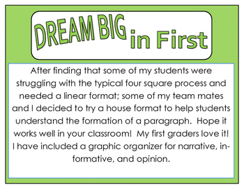 Writing Graphic Organizer for Primary