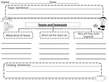 team lesson plan template tn - writing graphic organizer for teamwork freebie by