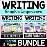 Paper and Digital Writing Graphic Organizers Bundle, Distance Learning