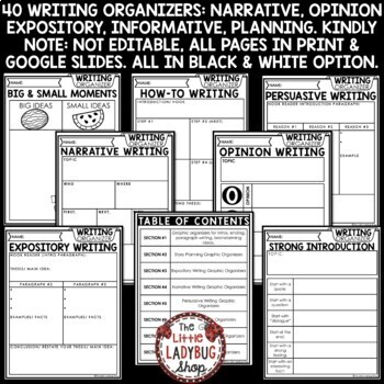 Writing Graphic Organizers - Expository & Narrative