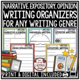 Writing Graphic Organizers - Expository, Narrative for Student Writer's Notebook