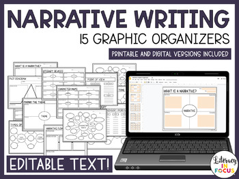 Writing Graphic Organizers | Narrative, Summary, Argument, Expository Writing