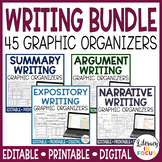 Writing Graphic Organizers | Editable | Printable | Google