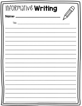 Writing Graphic Organizers: Opinion, Narrative, Descriptive