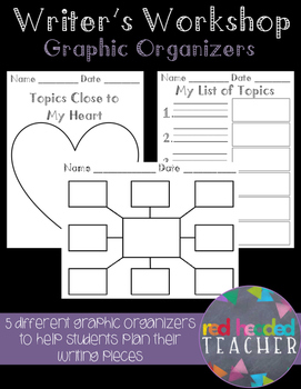Writing Graphic Organizers for Planning