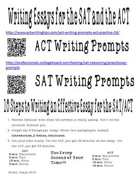 Writing Graphic Organizers for the ACT and the SAT