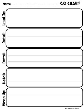 """Writing Graphic Organizers or """"GO"""" Charts"""