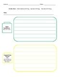 Writing: Graphic organizer
